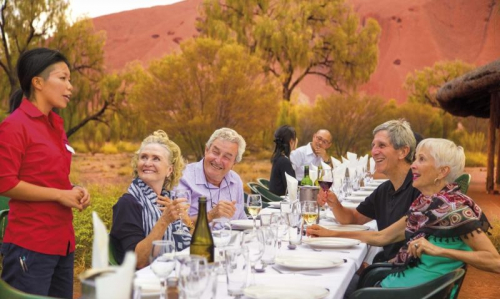Treat yourself to this spectacular Uluru Sunset Tour and Dinner Under the Stars including Uluru base tour, an exclusive BBQ dinner plus Star Gazing